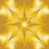 Golden Star. Shimmering Background. Visual Volume Effect. Polygonal Geometric Abstract Pattern. Suitable for textile, fabric Royalty Free Stock Photos