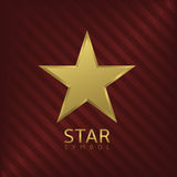 Golden Star symbol Royalty Free Stock Images