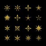 Golden star symbol Stock Photos