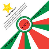 175. Golden star trademark guarantee on Italian color flag strips Royalty Free Stock Photo