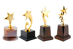Golden Star Trophy Royalty Free Stock Photography