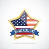 Golden Star USA Flag Memorial Day Stock Photo