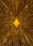 Golden starburst background Stock Image