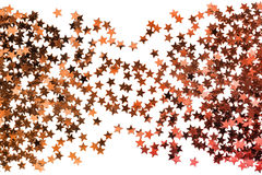 Golden stardust isolated Stock Photo