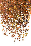Golden stardust isolated Stock Image
