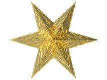 Golden starfish Stock Photo