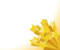 Golden stars. Stars 3d vector illustration on white background