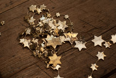 Golden stars. Stock Photos