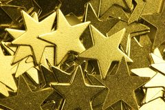 Golden stars. Stock Photography