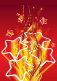 Golden stars. On red background, eps10  illustration Stock Image