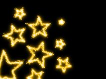 Golden stars Stock Photo