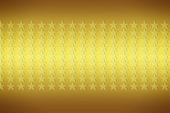 Golden stars. Abstract yellow background with pattern made of stars stock illustration