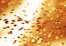 Golden stars background Royalty Free Stock Photos