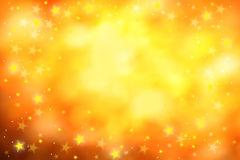 Golden stars background. Golden background with many yellow and white stars royalty free stock photography