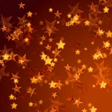Golden stars background Stock Photos
