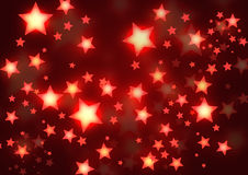 Golden stars background. Shiny golden red stars background Royalty Free Stock Images