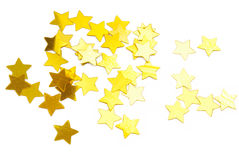 Golden stars background Stock Photo