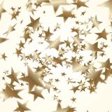 Golden stars background. Depth of field. Golden stars illustration. Vector depth of field royalty free illustration