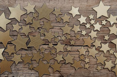 Golden stars background Royalty Free Stock Images