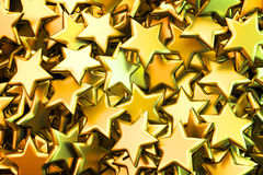 Golden stars background Stock Image