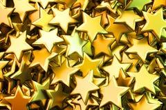 Golden stars background. Shiny golden stars background illustration. Hi-res digitally generated image vector illustration