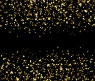 Golden stars with blank space in the center, brilliant shine. Stock Image