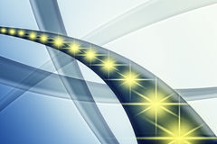 Golden Stars and blue trails, concept europe flag Royalty Free Stock Photos