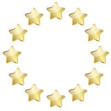 Golden stars in a circle Stock Photography