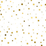 Golden stars confetti background. Vector seamless pattern. Vector Stock Images