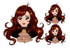 Golden stars royalty free illustration