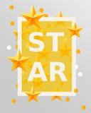 Golden stars design elements. Best of the concept. Stock Photos