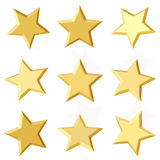 Golden stars. Different angles Stock Image