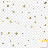 Golden stars are falling down. vector illustration. Golden stars are falling down. vector Royalty Free Stock Photography
