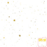 Golden stars are falling down. Vector illustration. Golden stars are falling down. Vector Stock Photo