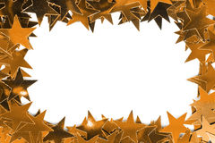 Golden stars frame Stock Images