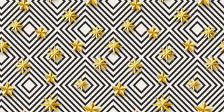 Stars and geometric decor pattern Stock Photos