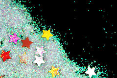 Golden stars with glitter Royalty Free Stock Photo