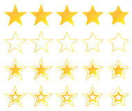 Golden Stars Icons Stock Image
