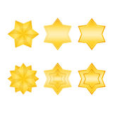 Golden Stars Icons Stock Photo