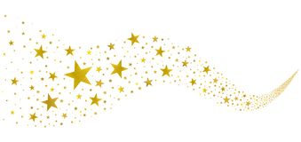 Free Golden Stars In The Stream Royalty Free Stock Image - 140371266