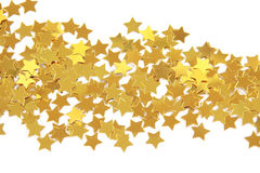 Golden stars isolated Stock Photography