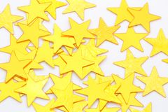 Golden stars isolated Royalty Free Stock Image