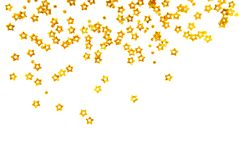 Golden stars isolated Stock Image