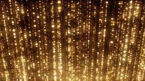Free Golden Stars On Black Background Stock Photography - 133818832