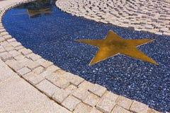 Golden stars path Royalty Free Stock Photos