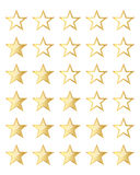 Golden stars rating. Vector illustration. Royalty Free Stock Photography