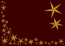 Golden stars on red background. Dark red background with golden stars - best usability as  file - adjust the stars the way you need Royalty Free Stock Images
