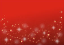 Golden stars on red background Stock Photos