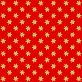 Golden stars on red Royalty Free Stock Photos