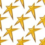 Golden stars seamless background pattern Royalty Free Stock Photography